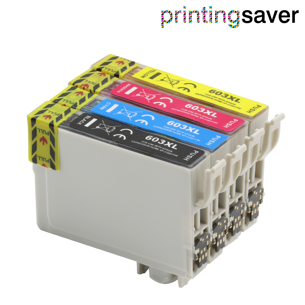 Epson Workforce WF-2810 WF-2830 WF-2835 WF-2850 Sizzler 603XL Ink Cartridges Replacement for Epson 603 XL Ink Compatible for Epson Expression Home XP-3100 XP-4100 XP-2100 XP-2105 XP-3105 XP-4105